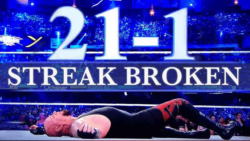 Down and out..The UnderTaker